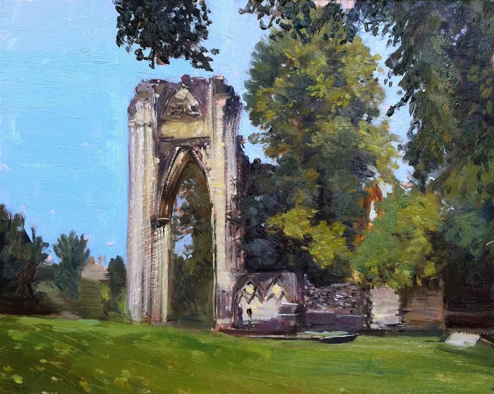 """St Mary's Ruins, York"" original fine art by Adebanji Alade"