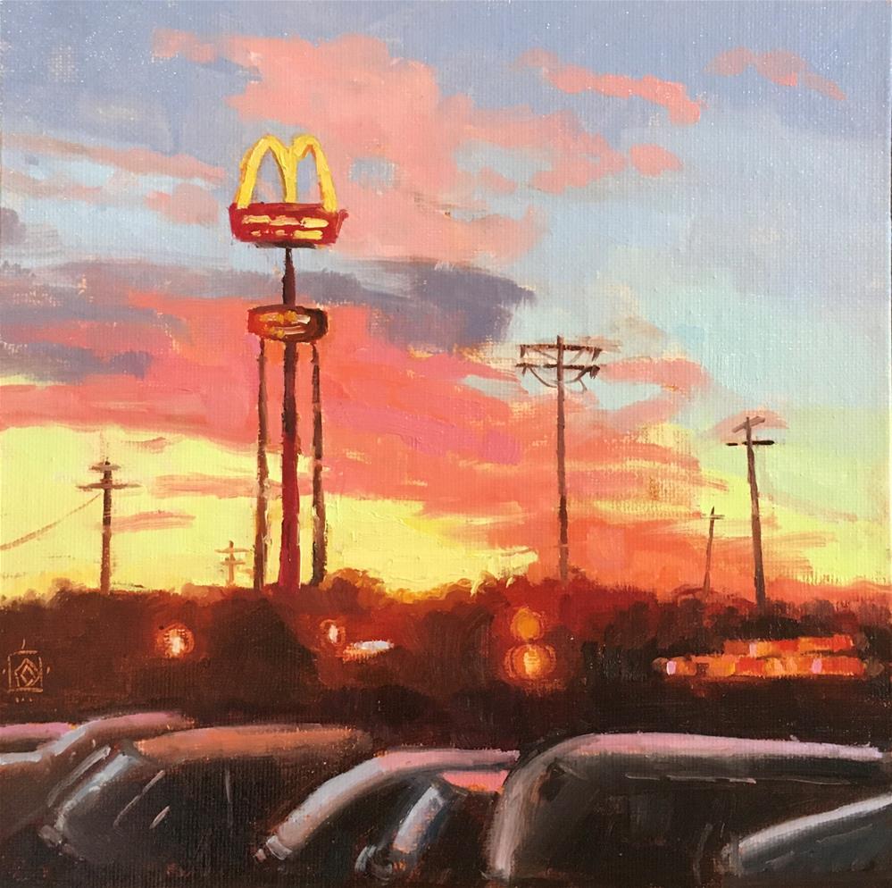 """Golden Arches Sunset"" original fine art by Carol Granger"