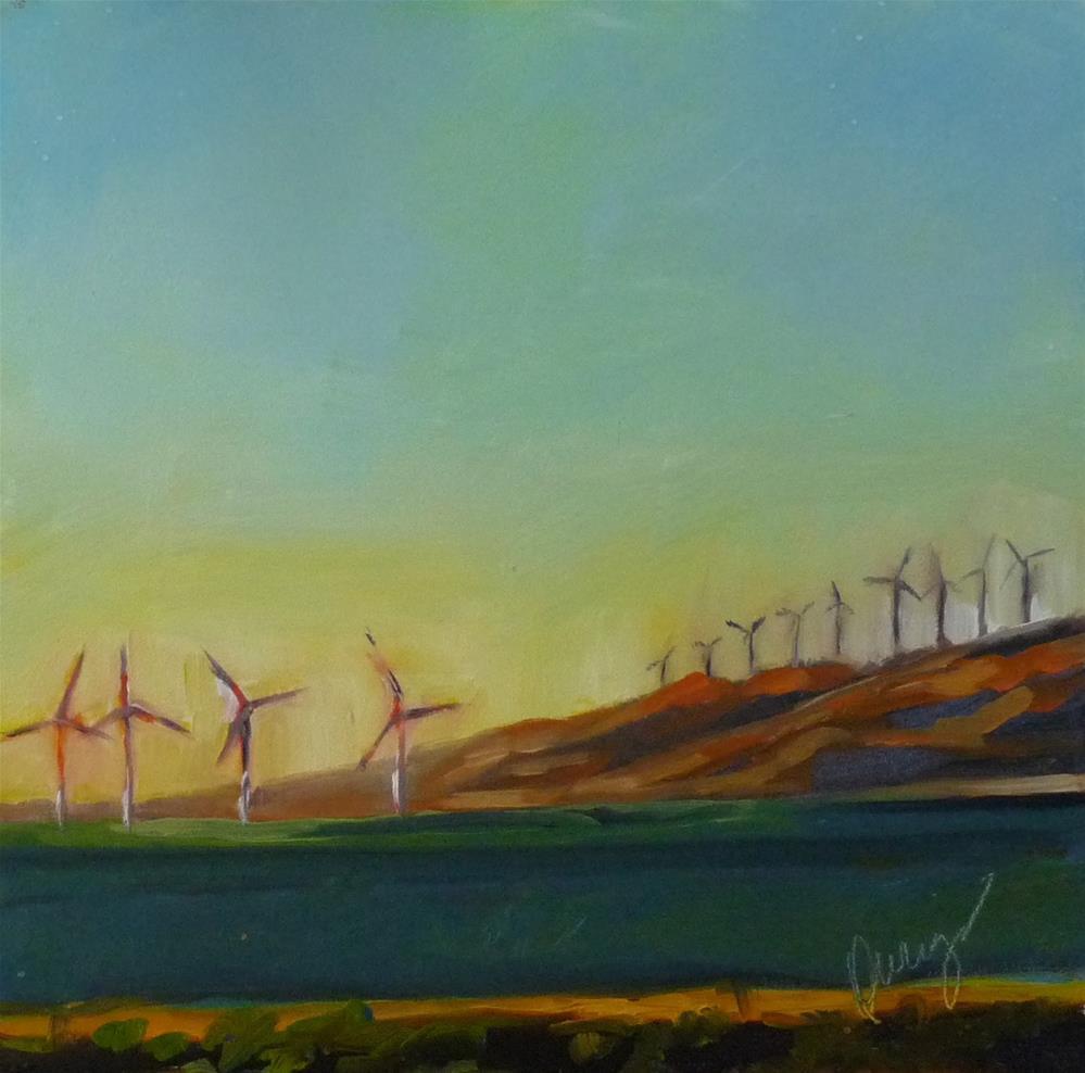 """Turbine"" original fine art by Sharman Owings"