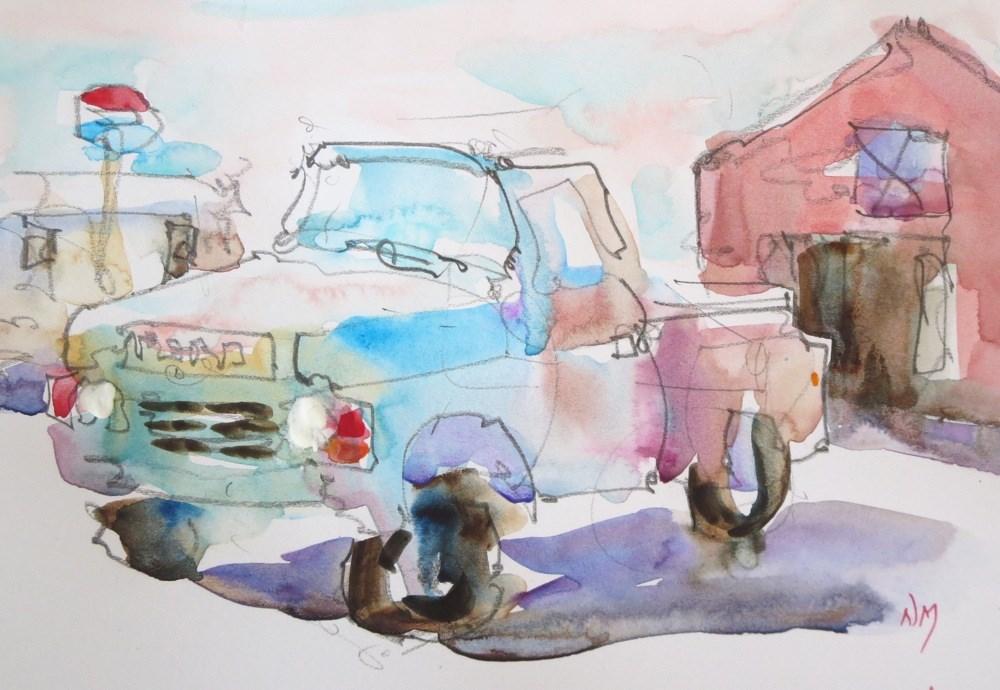 """old friend"" original fine art by Nora MacPhail"