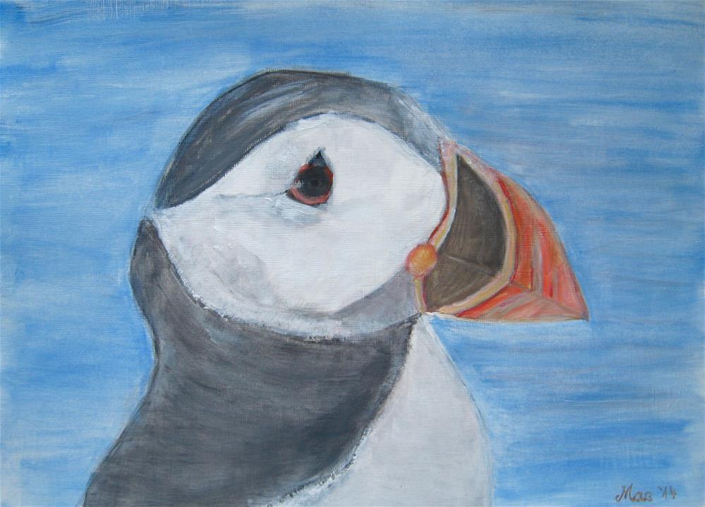 """""""Puffin"""" original fine art by Alina Frent"""