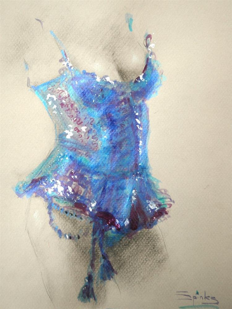 """Blue Lagoon"" original fine art by Johanna Spinks"