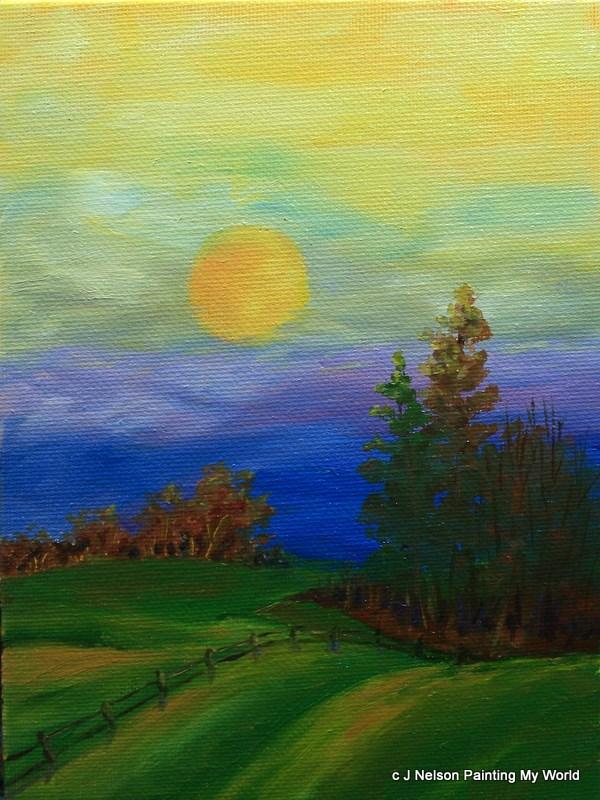 """Morning Song"" original fine art by Jean Nelson"