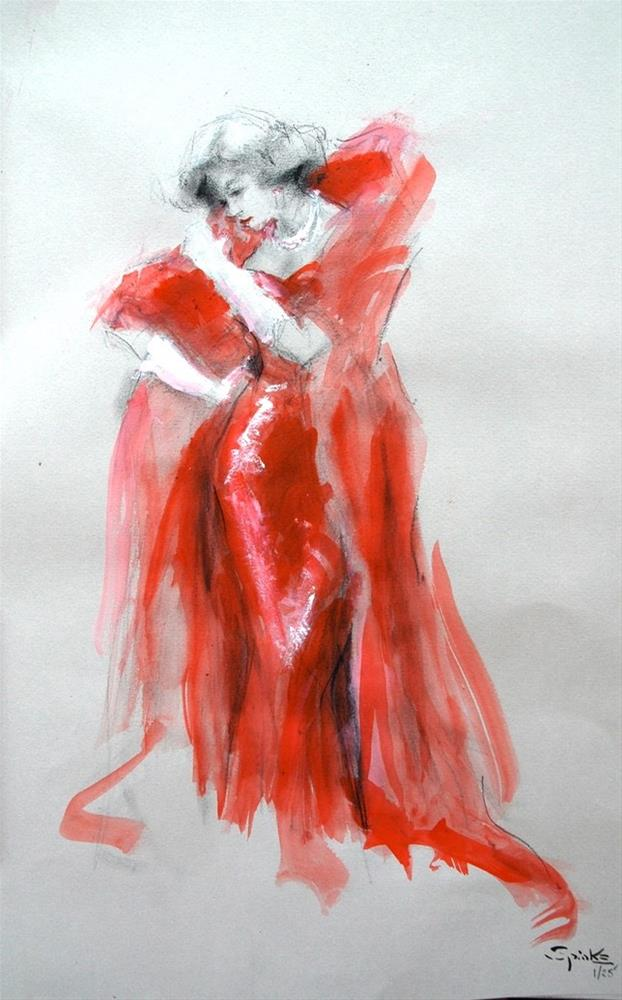 """""""In The Red"""" original fine art by Johanna Spinks"""