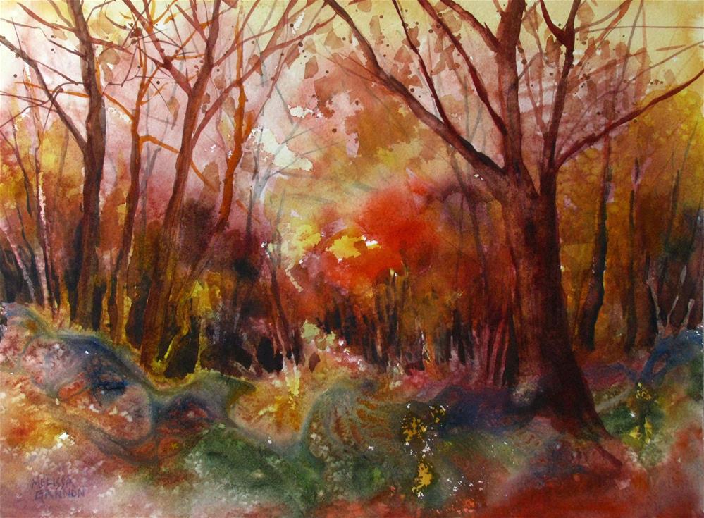 """""""Forest Textures"""" original fine art by Melissa Gannon"""