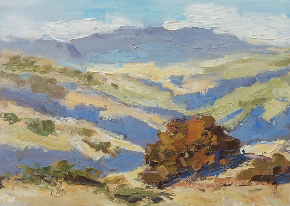 """CALIFORNIA IMPRESSIONIST LANDSCAPE"" original fine art by Tom Brown"