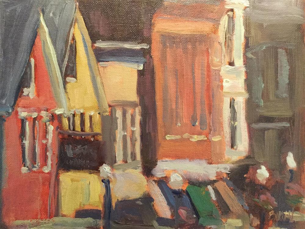 """Storefronts of Camden"" original fine art by Barb Walker"