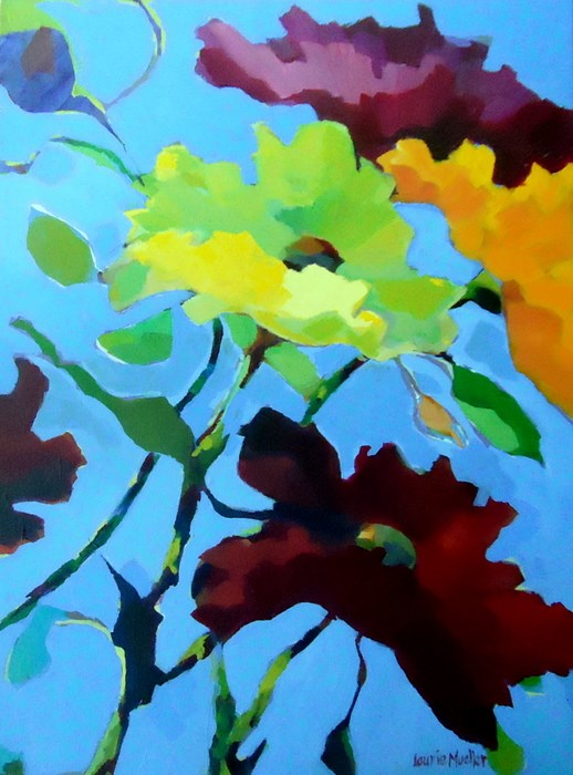 """""""On the Loose"""" original fine art by Laurie Mueller"""