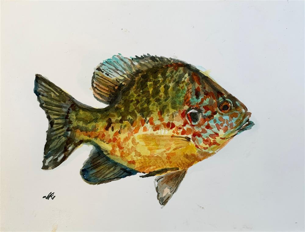 """Sun Fish"" original fine art by Jean Krueger"