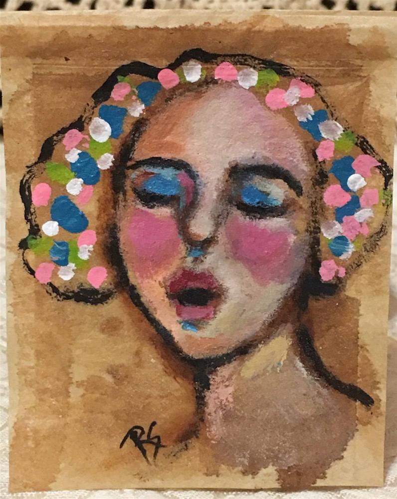 """""""Lulu Sings the Blues"""" original fine art by Roberta Schmidt ArtcyLucy"""