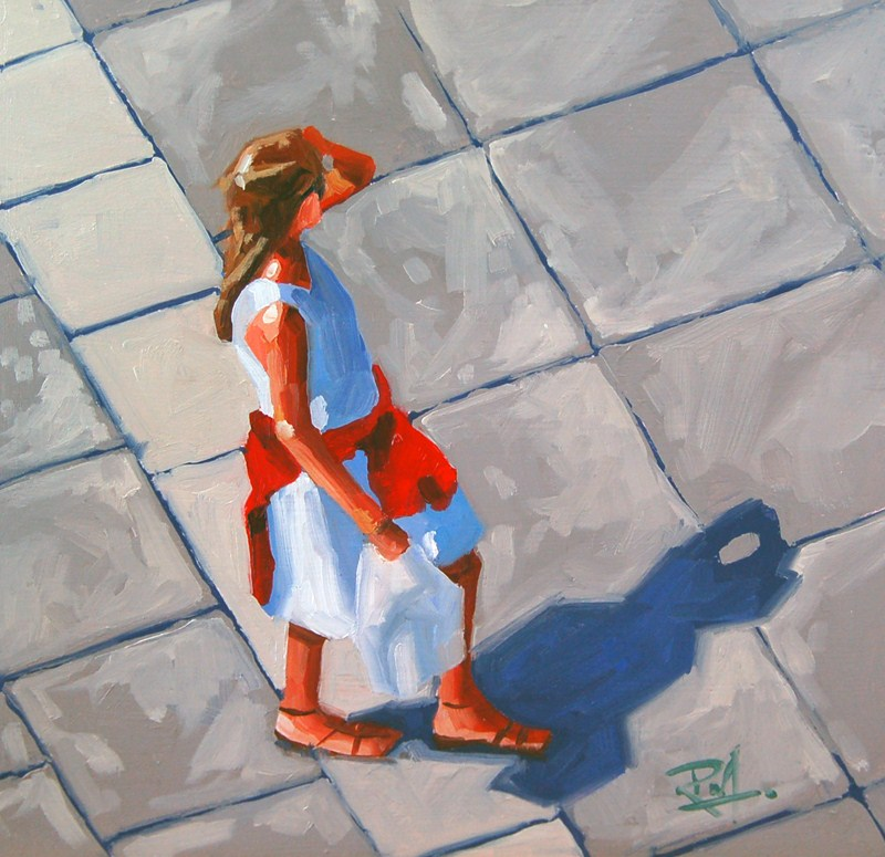 """No 419 Hot Afternoon"" original fine art by Robin J Mitchell"