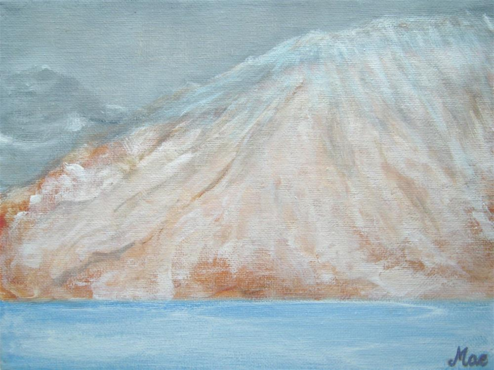 """White Mountain"" original fine art by Alina Frent"