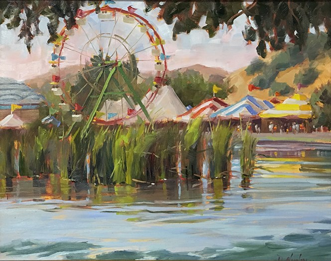 """At the Fair"" original fine art by Deborah Newman"