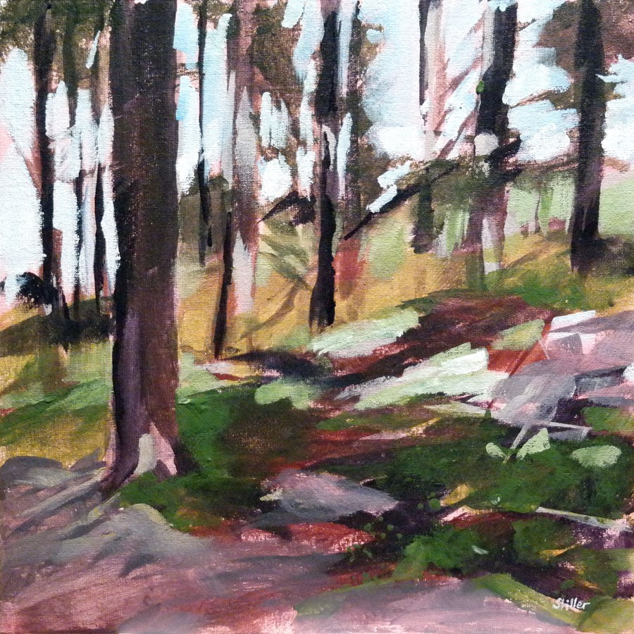 """3002 In the woods - study"" original fine art by Dietmar Stiller"