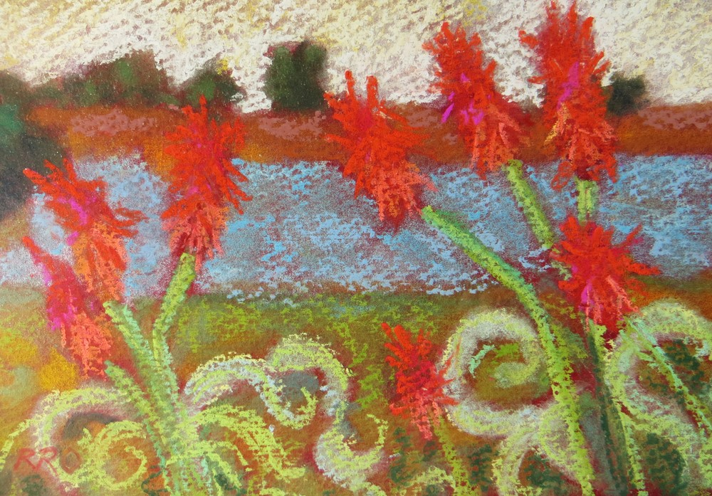 """Aloe Vera Dance"" original fine art by Rhett Regina Owings"