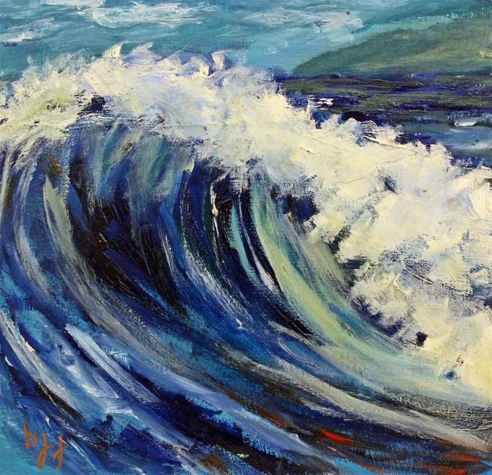 """Wave Study"" original fine art by Barbara Janecka"