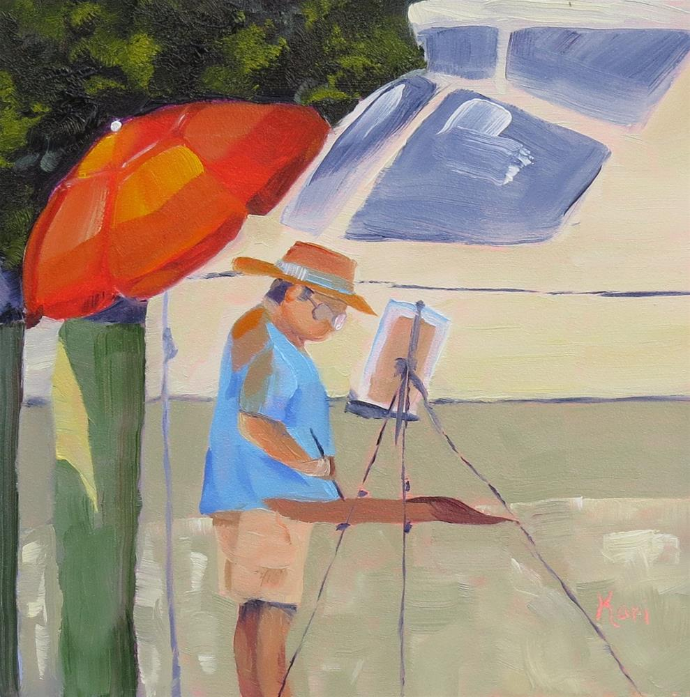 """Painting Annapolis"" original fine art by Kari Melen"