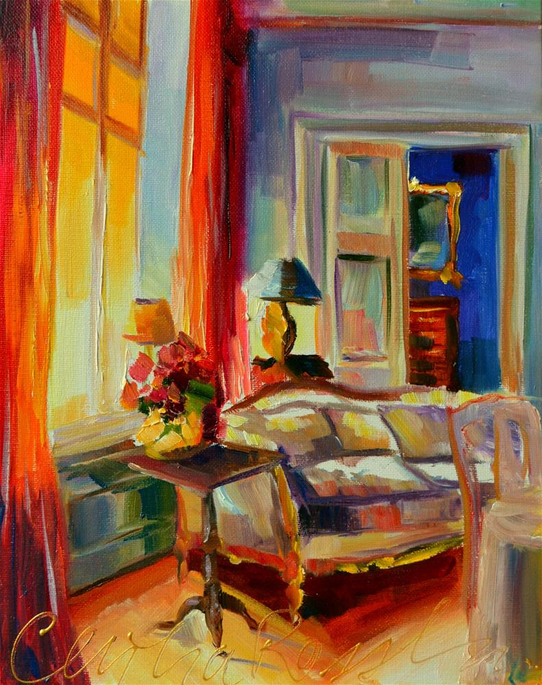 """FRENCH WINDOW"" original fine art by Cecilia Rosslee"