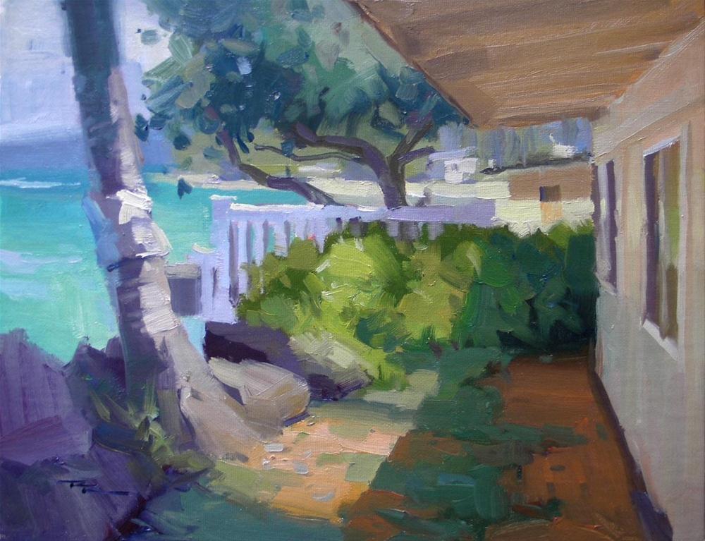 """Beach House"" original fine art by Richard Robinson"