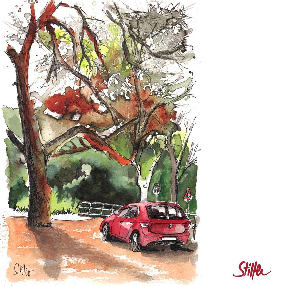 """3584 Carspotting"" original fine art by Dietmar Stiller"