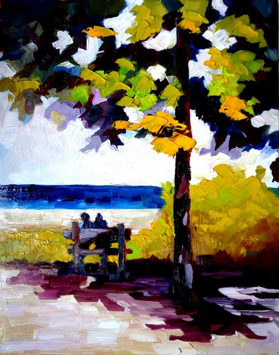 """""""Time Out in Northport"""" original fine art by Laurie Mueller"""