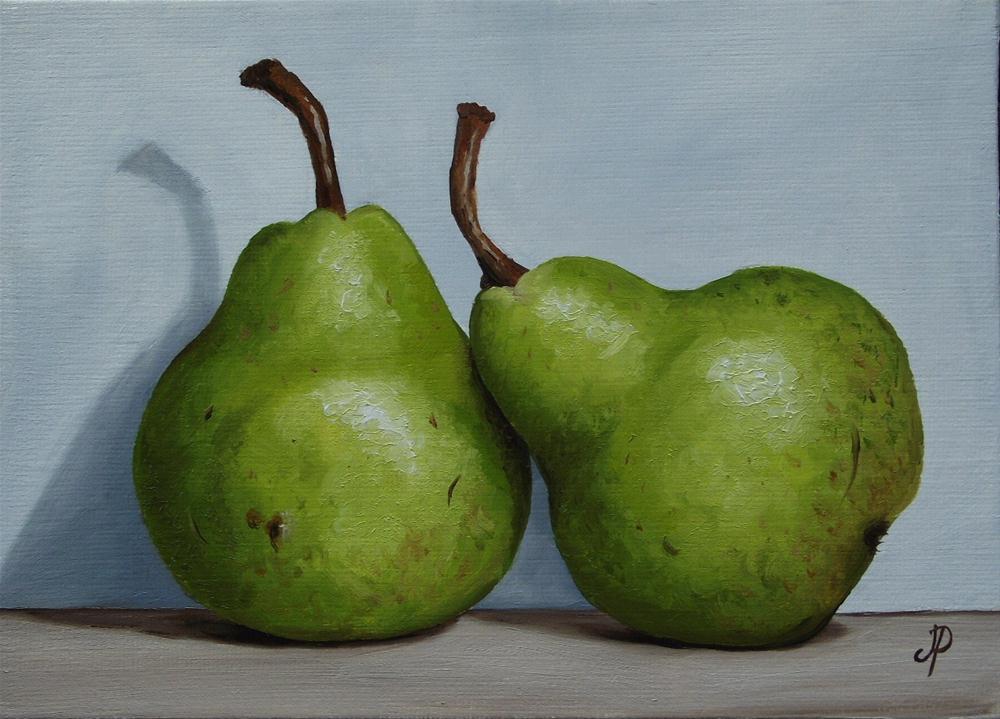 """Williams Pears & a little Lemon"" original fine art by Jane Palmer"