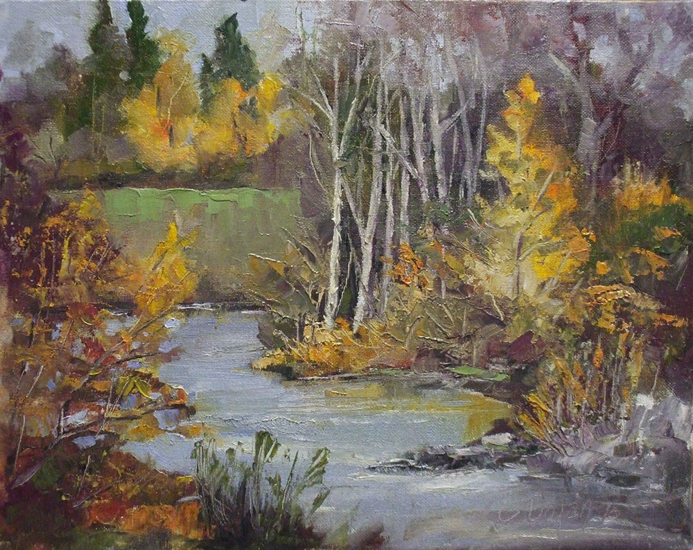 """Golden"" original fine art by Cheryl Williams Dolan"