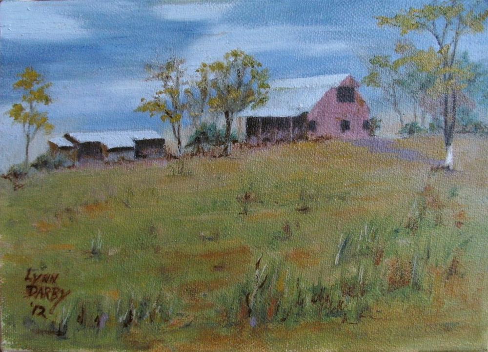 """""""Hilltop"""" original fine art by Lynn Darby"""