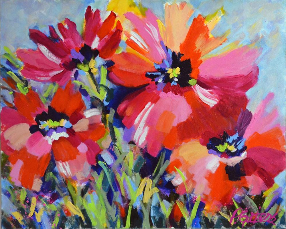 """Big Poppies"" original fine art by Pamela Gatens"