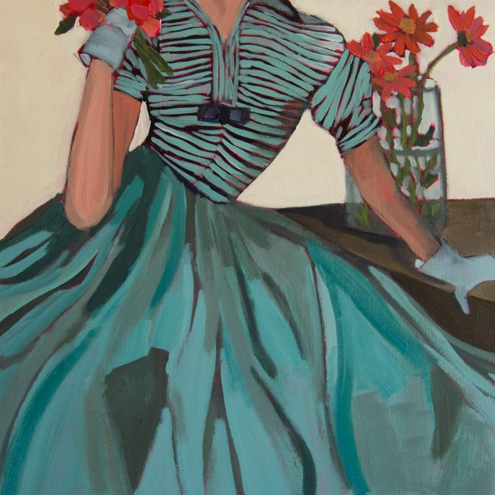 """More Flowers…. How Nice (#395)"" original fine art by Debbie Miller"