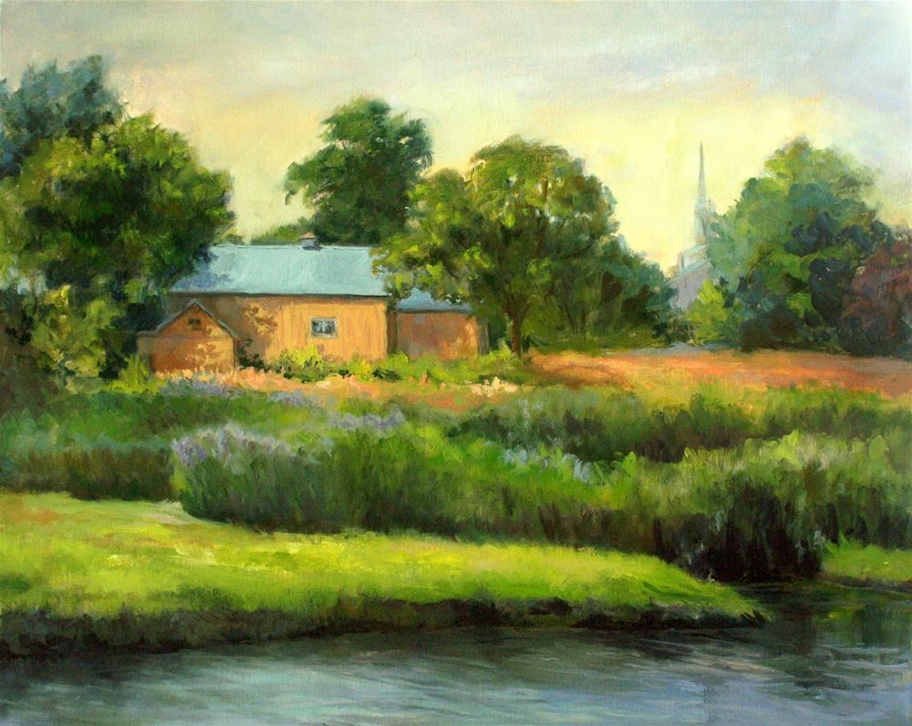 """Yellow Barns"" original fine art by Vikki Bouffard"