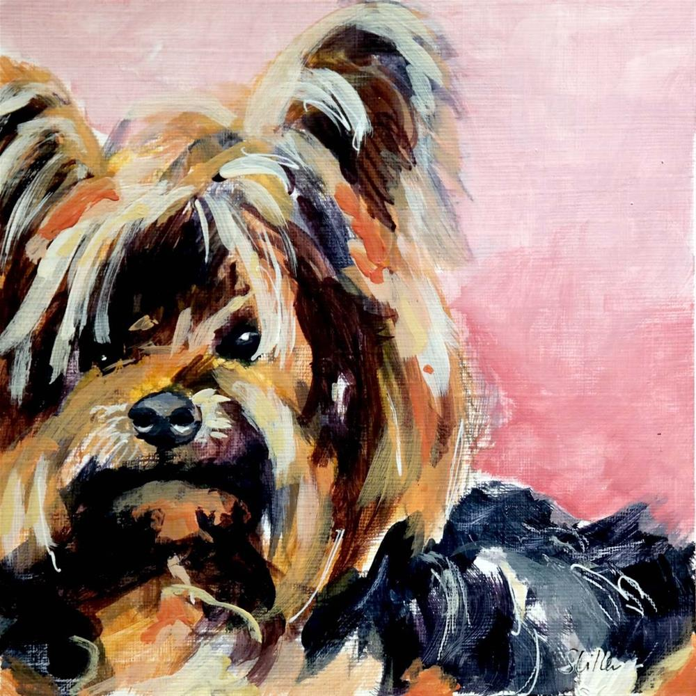 """1968 Yorkie"" original fine art by Dietmar Stiller"
