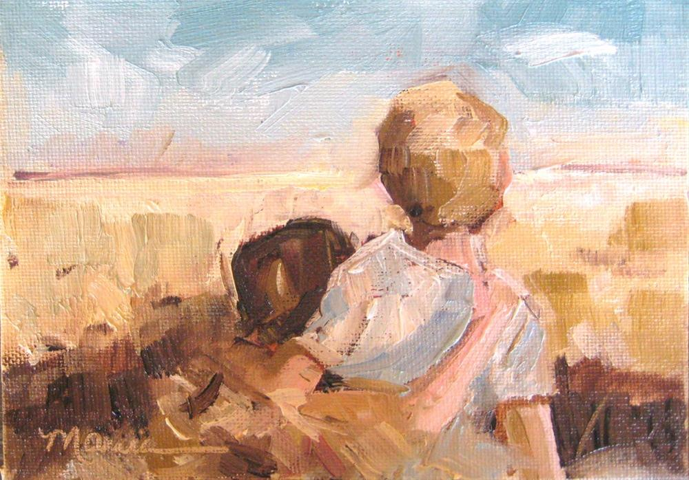 """Friends"" original fine art by Marcia Hodges"