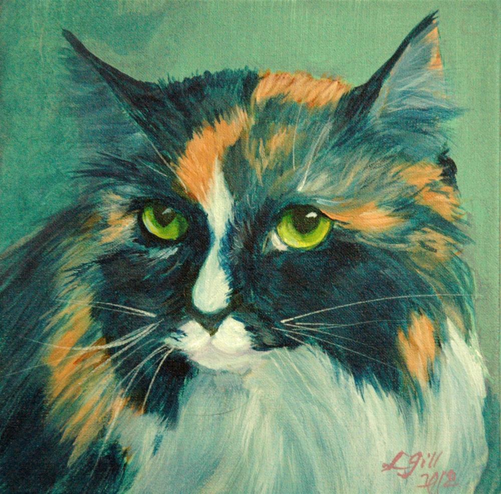 """Cattitude - Chula"" original fine art by Lyn Gill"