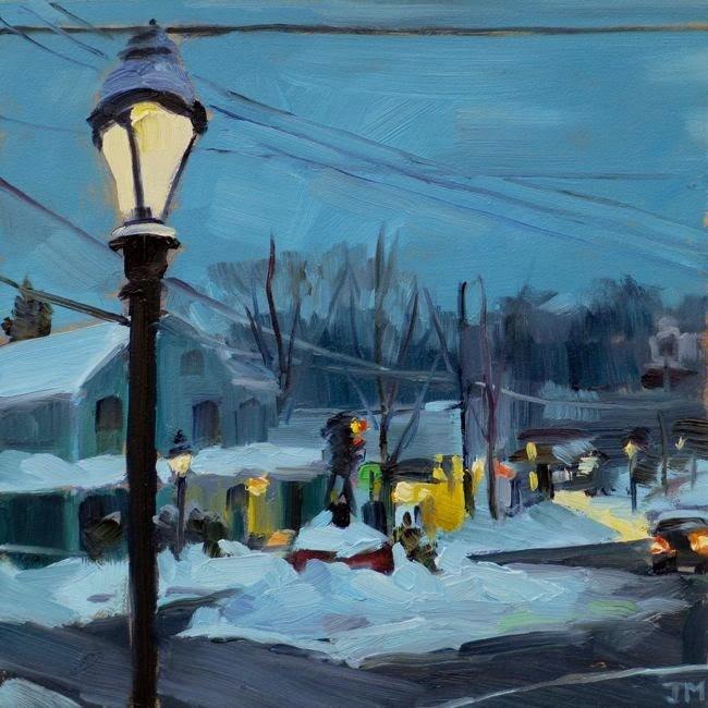 """Evening"" original fine art by Jessica Miller"