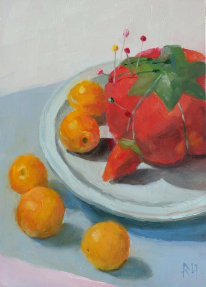 """Tomatoes and Tomato"" original fine art by Rebecca Helton"