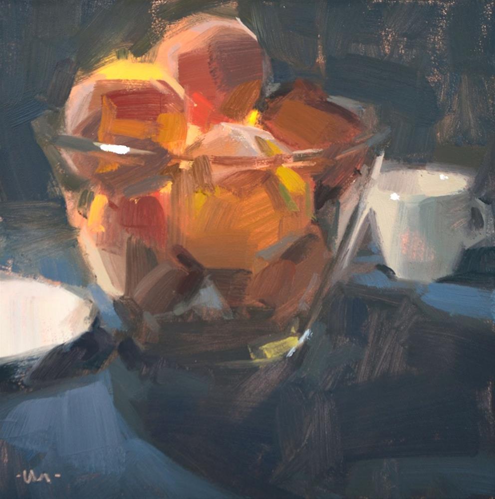 """Separated by Peaches"" original fine art by Carol Marine"