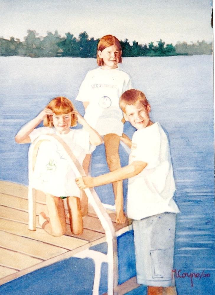 """At the Lake"" original fine art by meribeth coyne"