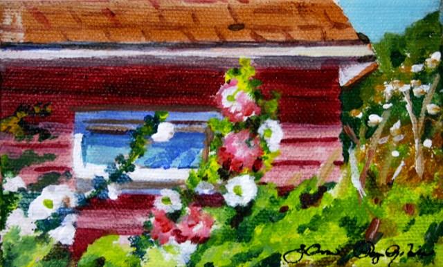 """""""Little window"""" original fine art by JoAnne Perez Robinson"""