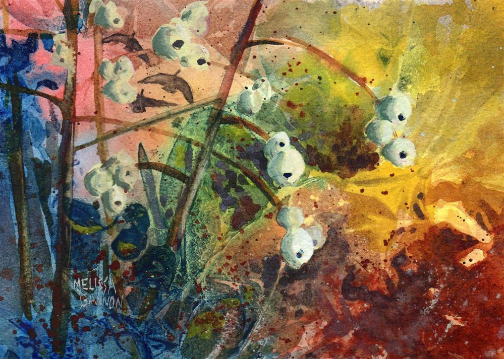"""""""Snowberry Woods"""" original fine art by Melissa Gannon"""