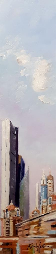 """""""Passing By Dubai"""" original fine art by Karen Weber"""