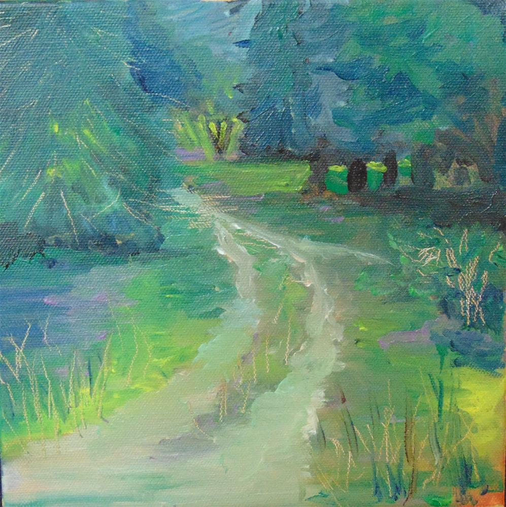"""""""The Front Drive"""" original fine art by Catherine Kauffman"""