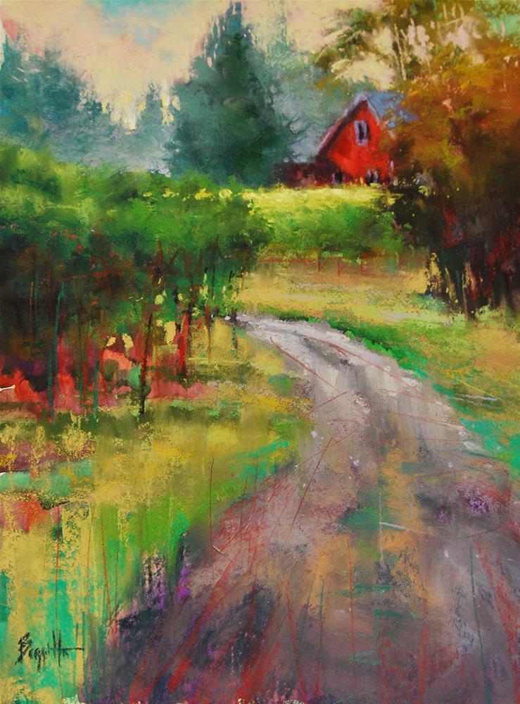 """The Red House"" original fine art by Marla Baggetta"