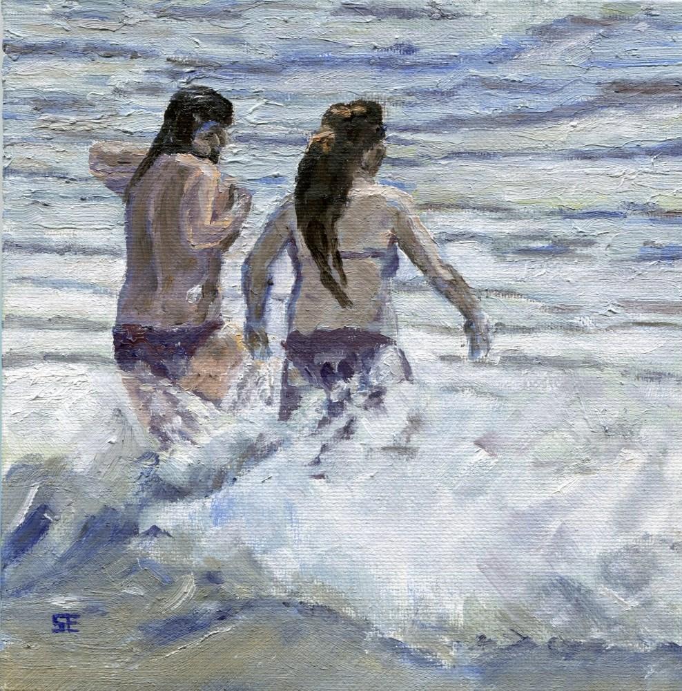 """Frolic"" original fine art by Stanley Epperson"