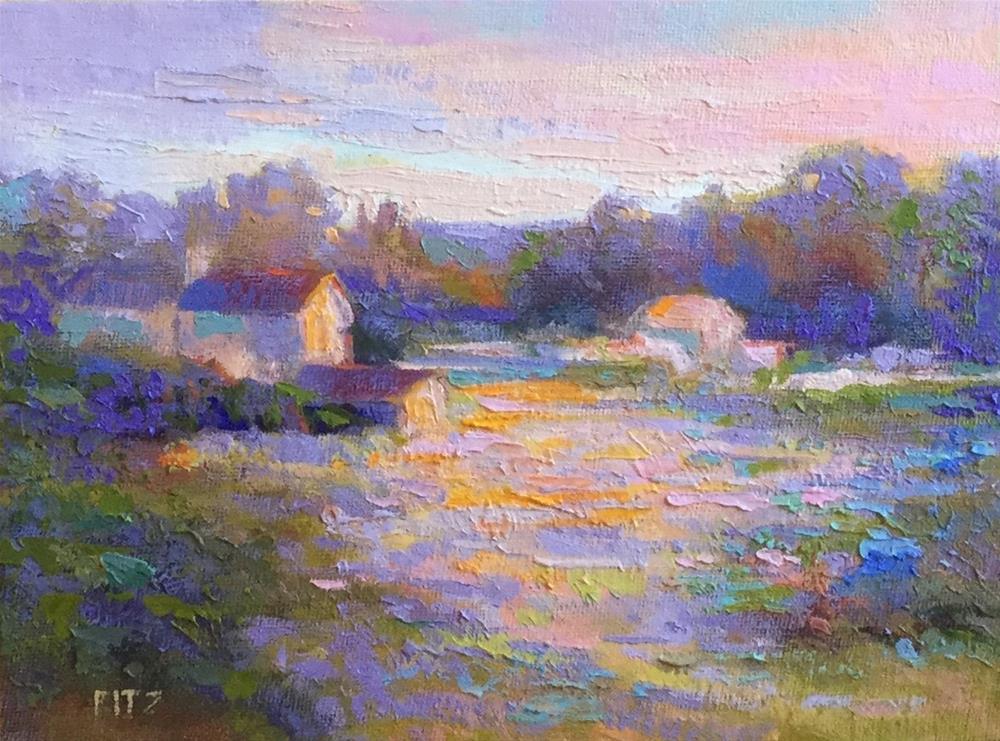 """""""Last Rays"""" original fine art by Charlotte Fitzgerald"""