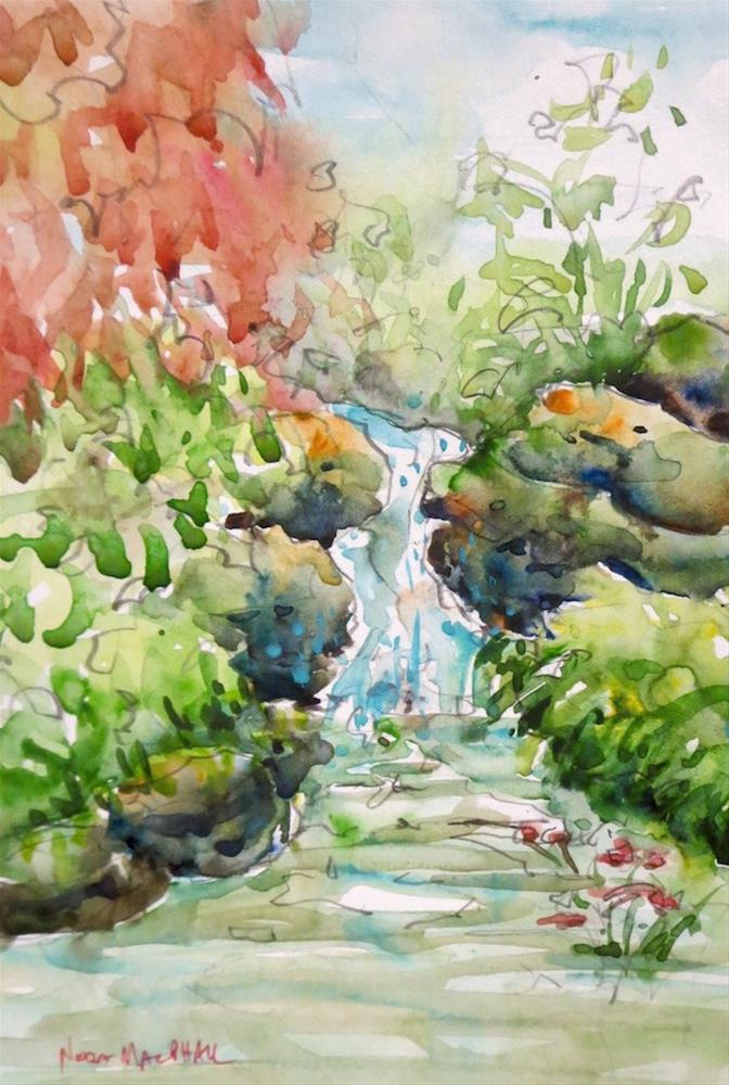 """the brook"" original fine art by Nora MacPhail"