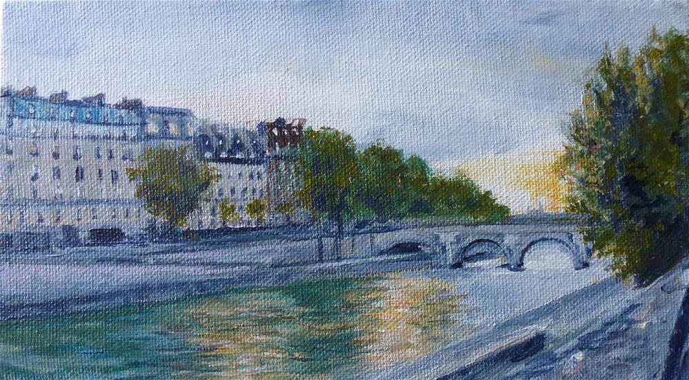 """""""On The Seine, Paris No. 89"""" original fine art by Judith Elder"""