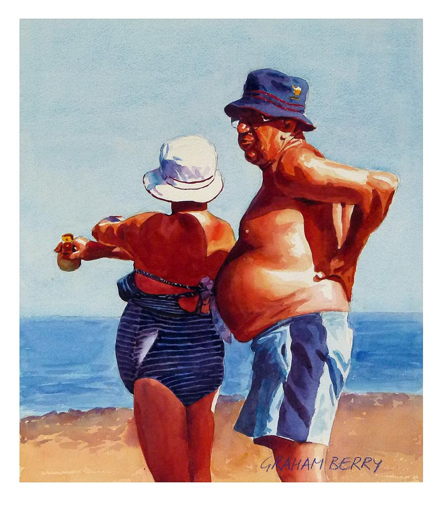 """""""After you with the sunscreen, dear."""" original fine art by Graham Berry"""
