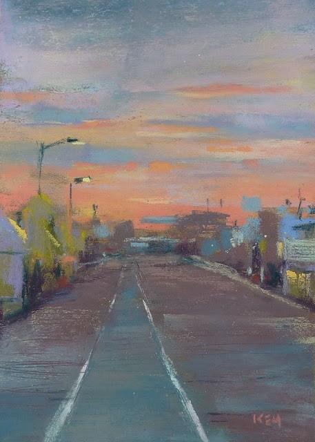 """Wildwood Boardwalk Painting...Simplify with Shapes"" original fine art by Karen Margulis"