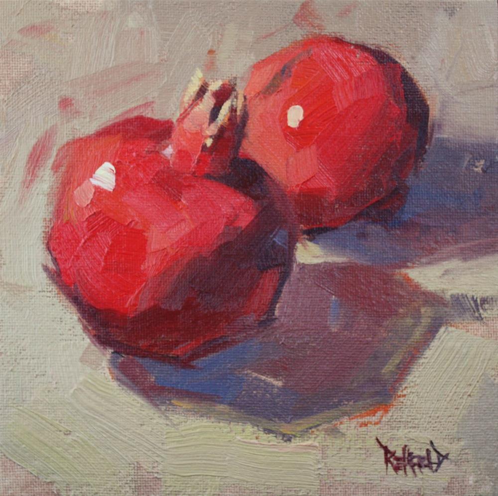 """Two Poms"" original fine art by Cathleen Rehfeld"